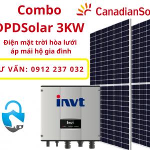 Trọn bộ điện mặt trời hòa lưới 3KW cho Gia đình