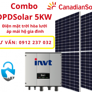 Trọn bộ điện mặt trời hòa lưới 5KW cho Gia đình