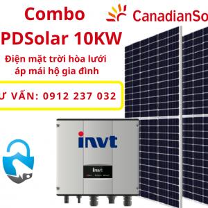 Hệ thống điện mặt trời 10kw 1 pha.