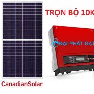 Hệ thống Điện mặt trời 10KW 3 pha cho Nhà xưởng